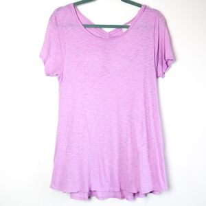 t.la | Ruched Tie Back Tee